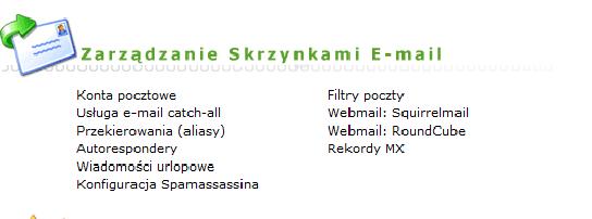 Zakładanie przekierowań e-mail w Yupo.pl